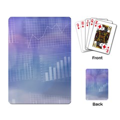 Business Background Blue Corporate Playing Card by Nexatart