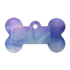 Business Background Blue Corporate Dog Tag Bone (two Sides) by Nexatart