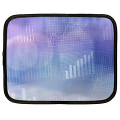 Business Background Blue Corporate Netbook Case (large) by Nexatart