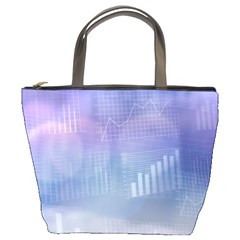 Business Background Blue Corporate Bucket Bags by Nexatart