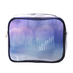 Business Background Blue Corporate Mini Toiletries Bags by Nexatart