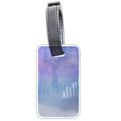 Business Background Blue Corporate Luggage Tags (one Side)  by Nexatart