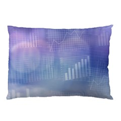 Business Background Blue Corporate Pillow Case (two Sides) by Nexatart