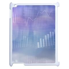 Business Background Blue Corporate Apple Ipad 2 Case (white) by Nexatart