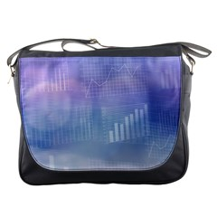 Business Background Blue Corporate Messenger Bags by Nexatart