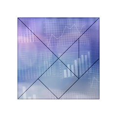 Business Background Blue Corporate Acrylic Tangram Puzzle (4  X 4 ) by Nexatart