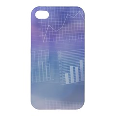 Business Background Blue Corporate Apple Iphone 4/4s Premium Hardshell Case by Nexatart