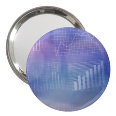 Business Background Blue Corporate 3  Handbag Mirrors by Nexatart