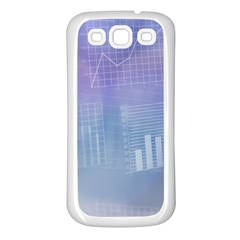 Business Background Blue Corporate Samsung Galaxy S3 Back Case (white) by Nexatart