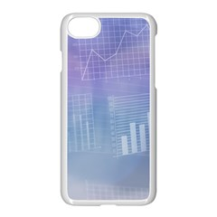 Business Background Blue Corporate Apple Iphone 7 Seamless Case (white) by Nexatart