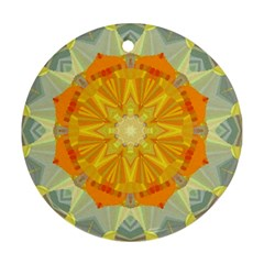 Sunshine Sunny Sun Abstract Yellow Ornament (round) by Nexatart