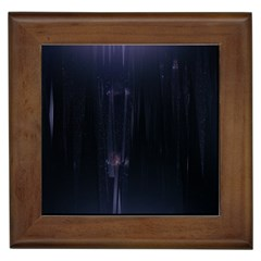 Abstract Dark Stylish Background Framed Tiles by Nexatart