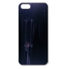 Abstract Dark Stylish Background Apple Seamless iPhone 5 Case (Clear) by Nexatart