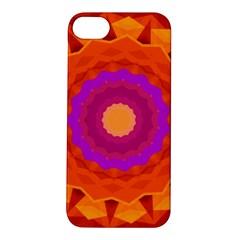 Mandala Orange Pink Bright Apple Iphone 5s/ Se Hardshell Case