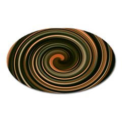Strudel Spiral Eddy Background Oval Magnet by Nexatart