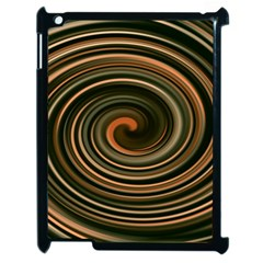 Strudel Spiral Eddy Background Apple Ipad 2 Case (black) by Nexatart