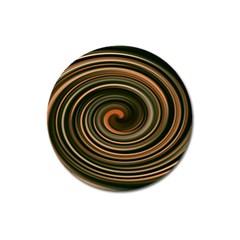 Strudel Spiral Eddy Background Magnet 3  (round) by Nexatart