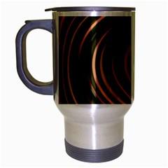 Strudel Spiral Eddy Background Travel Mug (silver Gray)
