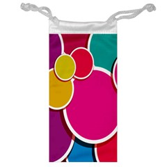 Paint Circle Red Pink Yellow Blue Green Polka Jewelry Bag by Mariart