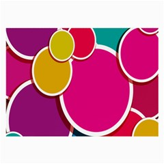 Paint Circle Red Pink Yellow Blue Green Polka Large Glasses Cloth (2 Side) by Mariart