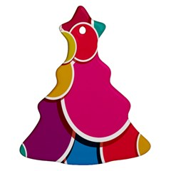 Paint Circle Red Pink Yellow Blue Green Polka Christmas Tree Ornament (two Sides) by Mariart