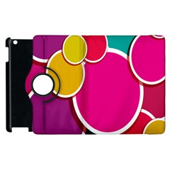 Paint Circle Red Pink Yellow Blue Green Polka Apple Ipad 2 Flip 360 Case by Mariart