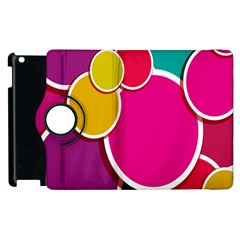Paint Circle Red Pink Yellow Blue Green Polka Apple Ipad 3/4 Flip 360 Case by Mariart