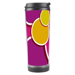 Paint Circle Red Pink Yellow Blue Green Polka Travel Tumbler by Mariart