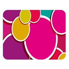 Paint Circle Red Pink Yellow Blue Green Polka Double Sided Flano Blanket (large)  by Mariart