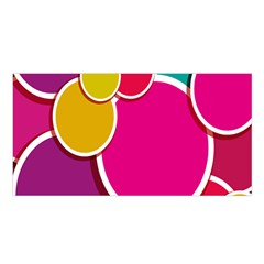 Paint Circle Red Pink Yellow Blue Green Polka Satin Shawl by Mariart