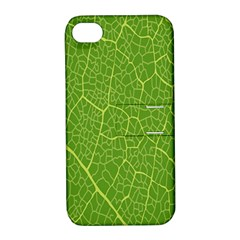 Green Leaf Line Apple Iphone 4/4s Hardshell Case With Stand by Mariart
