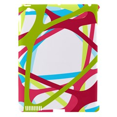 Nets Network Green Red Blue Line Apple Ipad 3/4 Hardshell Case (compatible With Smart Cover) by Mariart