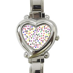 Paw Prints Dog Cat Color Rainbow Animals Heart Italian Charm Watch by Mariart