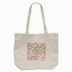 Paw Prints Dog Cat Color Rainbow Animals Tote Bag (cream) by Mariart
