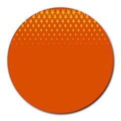 Orange Star Space Round Mousepads by Mariart
