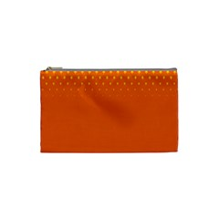 Orange Star Space Cosmetic Bag (small)  by Mariart
