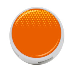Orange Star Space 4 Port Usb Hub (two Sides)  by Mariart