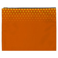 Orange Star Space Cosmetic Bag (xxxl)  by Mariart