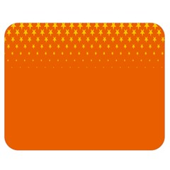 Orange Star Space Double Sided Flano Blanket (medium)  by Mariart
