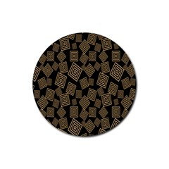 Magic Sleight Plaid Rubber Coaster (round)  by Mariart