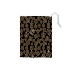 Magic Sleight Plaid Drawstring Pouches (small)  by Mariart