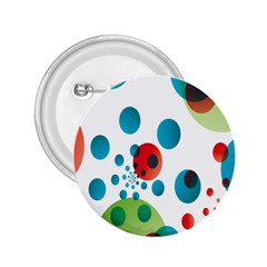 Polka Dot Circle Red Blue Green 2 25  Buttons by Mariart