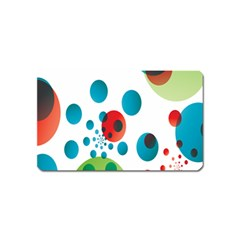 Polka Dot Circle Red Blue Green Magnet (name Card) by Mariart