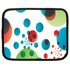 Polka Dot Circle Red Blue Green Netbook Case (xxl)  by Mariart