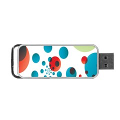 Polka Dot Circle Red Blue Green Portable Usb Flash (one Side) by Mariart