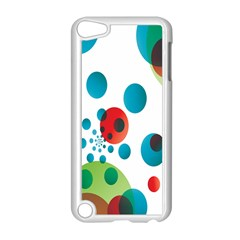 Polka Dot Circle Red Blue Green Apple Ipod Touch 5 Case (white) by Mariart