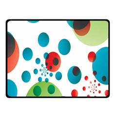 Polka Dot Circle Red Blue Green Double Sided Fleece Blanket (Small)  by Mariart