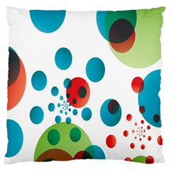 Polka Dot Circle Red Blue Green Standard Flano Cushion Case (two Sides) by Mariart