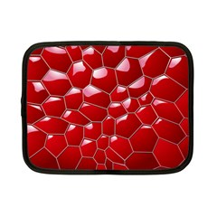 Plaid Iron Red Line Light Netbook Case (small)  by Mariart