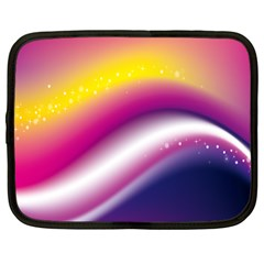 Rainbow Space Red Pink Purple Blue Yellow White Star Netbook Case (Large) by Mariart